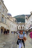 Alte Stadthauptstraße, Dubrovnik Lizenzfreies Stockfoto
