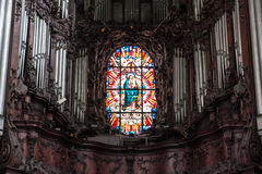 Alte Stadtkirche und -park Oliwa Gdansk Stockbilder