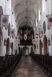 Alte Stadtkirche und -park Oliwa Gdansk Stockfotografie