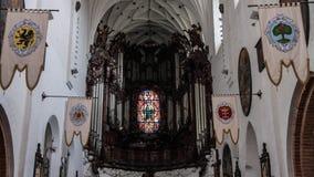 Alte Stadtkirche und -park Oliwa Gdansk Stockfotos