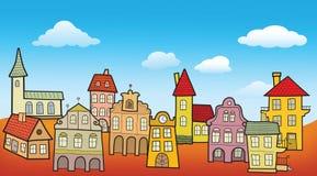 Alte Stadtlandschaft Lizenzfreie Stockfotos