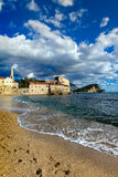Alte Stadtlandschaft Budva, Montenegro Stockfotos