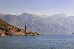 Alte Stadtlandschaft, Perast, Kotor-Bucht, Montenegro Stockfotos