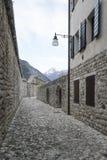 Alte Stadtmauer in Venzone Stockfotografie