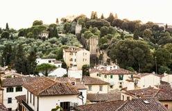 Alte Stadtmauern von Florenz, Toskana, Italien, städtische Szene Stockfotografie
