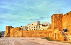 Alte Stadtmauern von Safi, Marokko lizenzfreie stockfotos