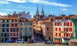 Alte Stadtmitte von Bayonne, Frankreich lizenzfreie stockfotografie