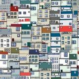 Alte Stadtnahtloses Muster vektor abbildung