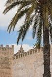 Alte Stadtpostkarte Alcudia Lizenzfreie Stockfotos
