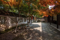 Alte Stadtrückzug-Garten Wujiang Tongli Stockfotos
