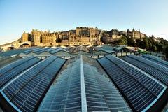 Alte StadtSkyline, Edinburgh, Schottland, Großbritannien Lizenzfreie Stockbilder