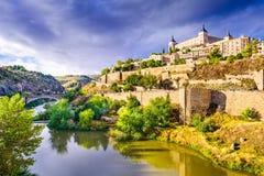 Alte Stadtskyline Toledos, Spanien Stockbild