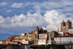 Alte Stadtskyline von Oporto in Portugal Lizenzfreies Stockfoto