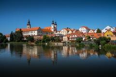 Alte Stadtstadt Telc Stockfoto