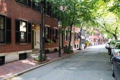 Alte Stadtstraße, Boston Lizenzfreie Stockfotos