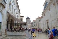 Alte Stadtstraße, Dubrovnik Stockfoto