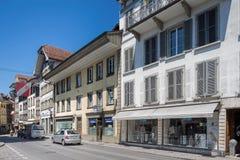 Alte Stadtstraße in Thun Lizenzfreie Stockbilder