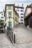 Alte Stadtstraße Zürichs Lizenzfreies Stockbild