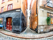 Alte Stadtstraßen Stockholms Lizenzfreie Stockbilder