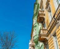 Alte Stadtwohnung Stockfotos