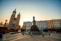 Alte Stadtzentrumansicht in Krakau Stockbilder