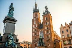 Alte Stadtzentrumansicht in Krakau Stockfotos