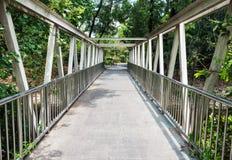 Alte Stahlbrücke Lizenzfreies Stockbild