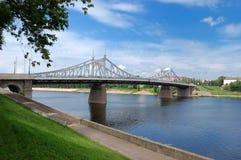 Alte Stahlbrücke Lizenzfreies Stockfoto