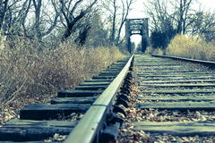 Alte Stahlbrücke Stockbild