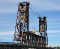 Alte Stahlbrücke Portland Stockfotos