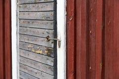 Alte Stall-Tür Stockbild