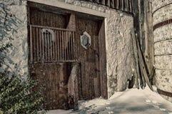Alte Stall-Tür Stockfotos