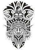 Alte Stammes- Maskenvektorillustration Lizenzfreie Stockfotos