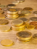 Alte Staplungsmünzen Stockbilder