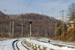 Alte Station der Eisenbahn Stockbilder