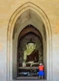 Alte Statue Bagan Buddha, Myanmar Lizenzfreie Stockfotografie