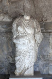 Alte Statue der Frau Stockbild