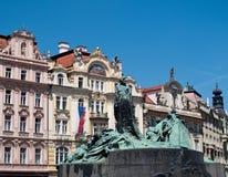 Alte Statue in Prag Stockbilder