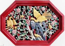 Alte Statue von chiness phoenixs. Stockfotografie