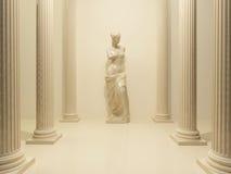 Alte Statue von einem nackten Venus Stockbild