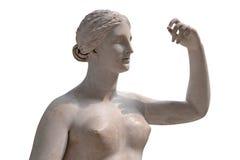 Alte Statue von einem nackten Venus getrennt auf Weiß Lizenzfreie Stockfotos