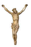 Alte Statue von Jesus crucified Lizenzfreie Stockfotografie