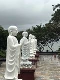 Alte Statuen und Skulpturen von Asien lizenzfreies stockfoto