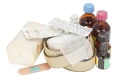 Alte staubige abgelaufene Medizin Lizenzfreie Stockfotos