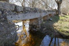 Alte Steinbrücke über einem Fluss Lizenzfreies Stockbild