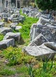 Alte Steine und Bogen Ephesus Stockfotografie