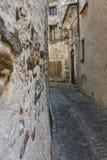Alte Steinhäuser und Wand Architekturart der historischen acient Stadt in der alten Stadt Stockbilder