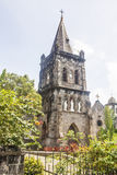 Alte Steinkirche in Rosseau Dominica Stockfoto