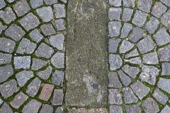 Alte Steinpflastersteine auf der Straße Lizenzfreie Stockfotografie
