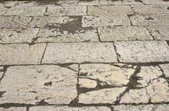 Alte Steinplatten der römischen Pflasterung Lizenzfreie Stockbilder